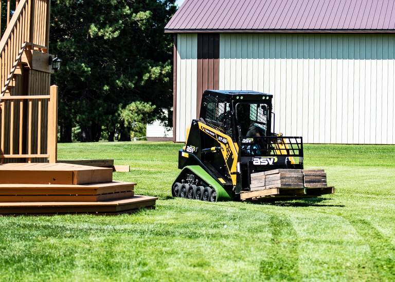 RT-25 Small Compact Track Loader landscaping tracks