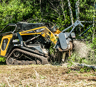 Forestry compact loader