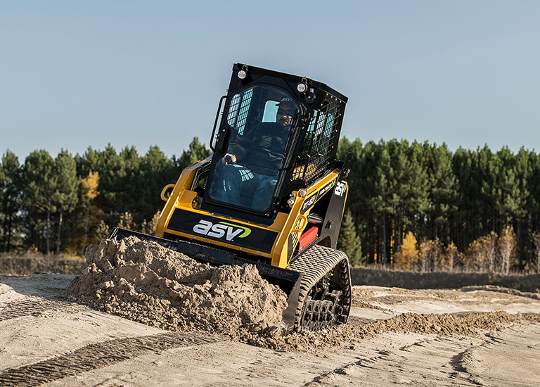RT-50 Compact Track Loader on Slope