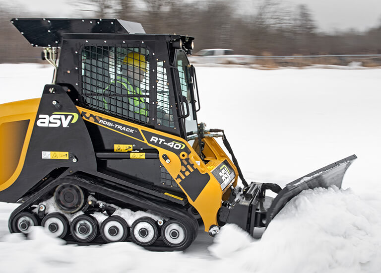 Snow Removal with Compact Track Loader