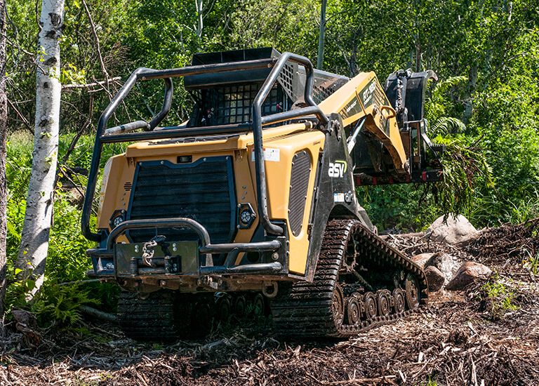 RT-120 Forestry Compact Track Loader Serviceability