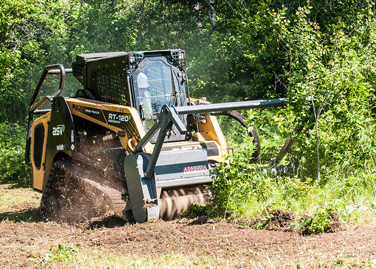 RT-120 Forestry Compact Track Loader Mulching
