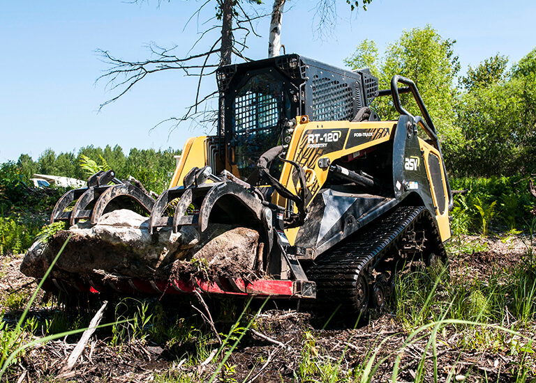 RT-120 Forestry Compact Track Loader Grapple Bucket