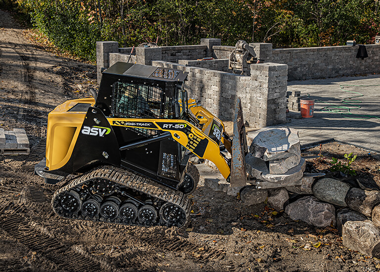 RT-50 Compact Track Loader landscaping