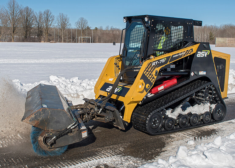 Snow Removal with Posi-Track Compact Track Loader