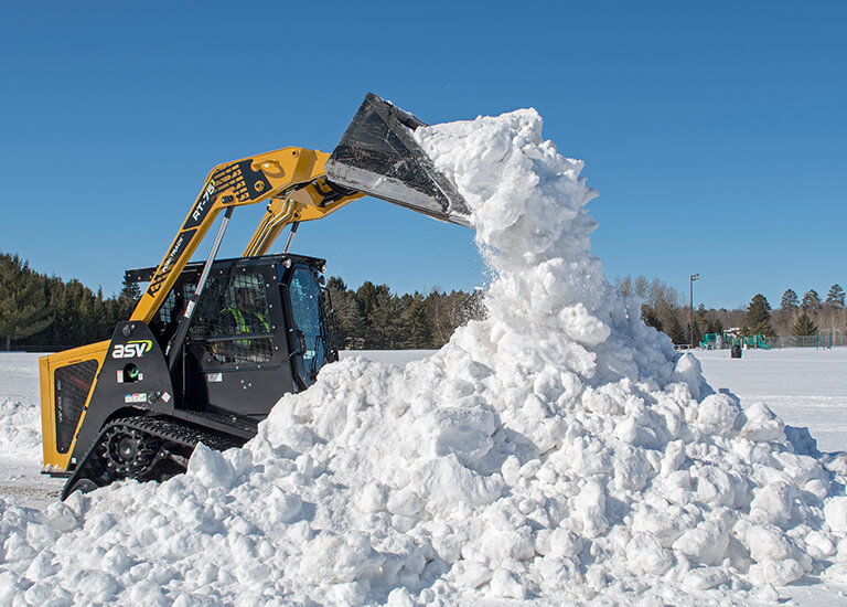 Snow Removal with Posi-Track CTL