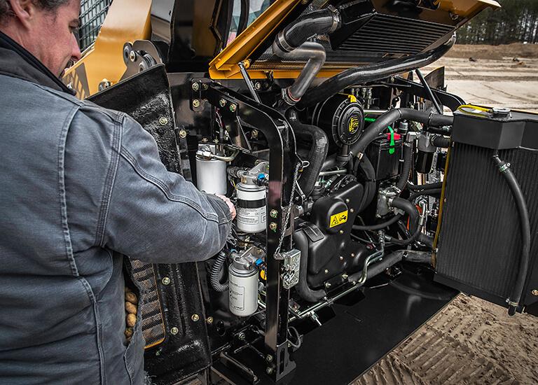 track loader servicing