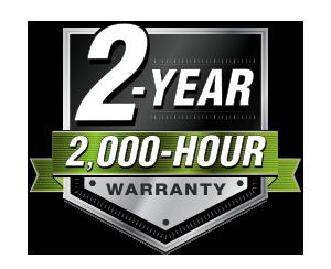 2-Year, 2,000-Hour Loader Warranty,