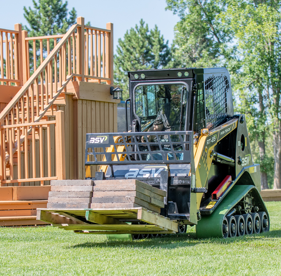 ASV RT-25 Compact Track Loader with Turf Tracks