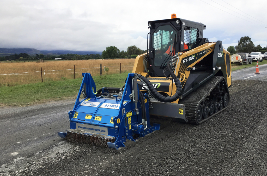ASV RT-120 with ST1000 asphalt milling attachments
