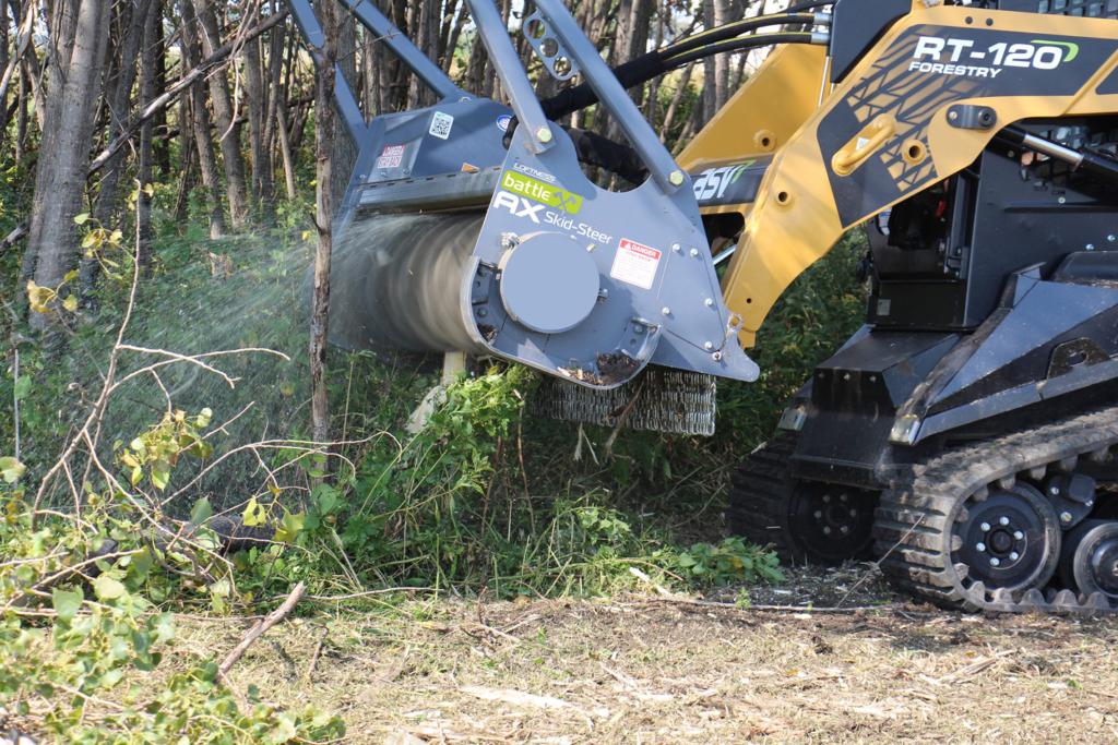 Battle Ax mulching head optimized for ASV