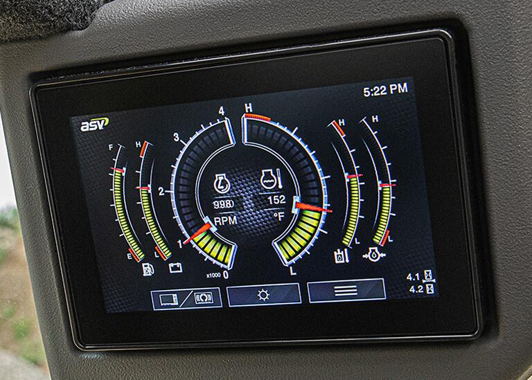 小型履带式装载机电子显示屏