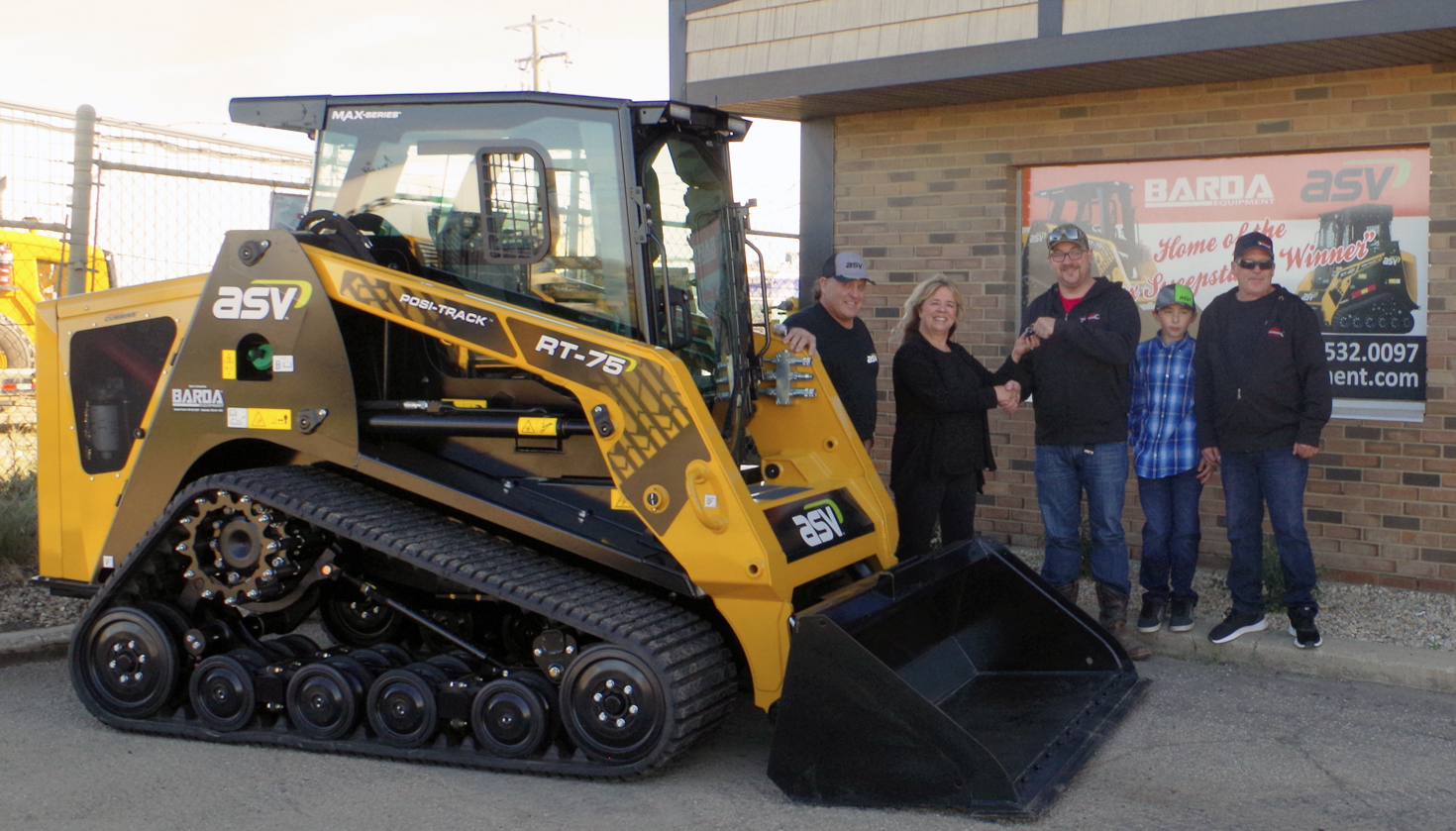 Andrew Stewart, co-owner of Redneks Field Services in Wembley, Alberta, Canada, is the winner of a 1-year lease of a MAX-Series RT-75 Posi-Track® loader.